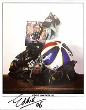 2006 EDDIE CHEEVER signed INDIANAPOLIS 500 PHOTO CARD POSTCARD INDY CAR RACING