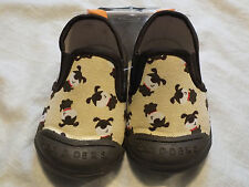 Skidders Skidproof Gripper Slipper Canvas Puppy Size 6 18 month NEW w/Tags
