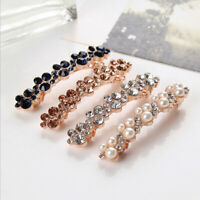 Fashion Crystal Pearl Hair Clips Bobby Barrette Hairpin Hair Accessories Gifts