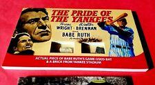 BABE RUTH GAME USED BAT & YANKEE STADIUM  BRICK PIECE OVERSIZED 3X5 CARD POSTERS