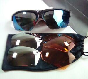 Crivit Sports Glasses1x Interchangeable 3 x Lenses Case/ orange/smoke/mirrored,