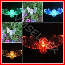 4-Pieces Solar Powered Bumble Bee Garden Yard Stake Pathway Lawn Light Led Sun i