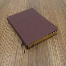 "5x7""Hard Leather Cover Notebook, Blank Diary, Travel Journal, Sketchbook"