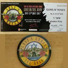 RARE GUNS N ROSES Ticket show in ISRAEL TEL AVIV 15th JULY 2017 STUB Collectors