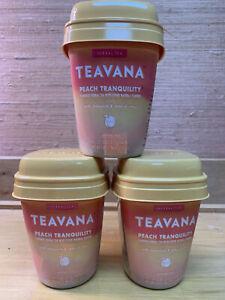 3x Teavana Peach Tranquility 15ct Flavored Herbal Tea chamomile citrus BB12/2020