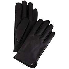 MSRP $55 Calvin Klein Men's Leather Gloves Cafa Noir Size Medium