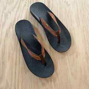 Mens CHACO Chilos Flip Flops Sandals Hiking Casual Black 14