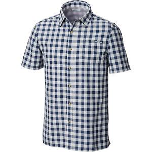 NWT Men PFG Super Slade Tide Camp Vented Shirt S/S Omni-Wick Plaid S & M (394)