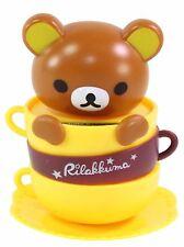 Rilakkuma Brown Bear in a Coffee Mug Japan Figure Solar Toy Gift USA Seller