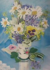 Poster Print 3d picture of a Daizy Bouquet on a table, great for Home B058