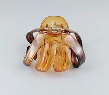 Brown octopus hair clip big spider barrette plastic claw jaw clamp clear ombre