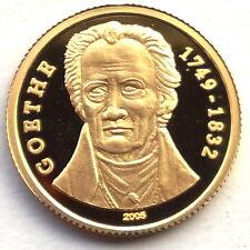 Togo 2005 Goethe 1500 Francs Gold Coin,Proof