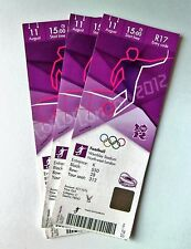 Londres 2012 Jeux Olympiques Memorabilia Tickets Stubs football MÉDAILLE D'OR match