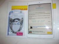 Apple iPad mini 1st Gen. 16GB, Wi-Fi, 7.9in - White & Silver***APPLE ID LOCKED**