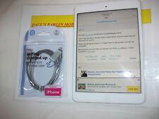 Apple iPad Mini 1st generación 16GB, Wi-Fi, 7.9in - Blanco y Plateado *** APPLE ID bloqueado **