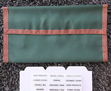 *January Sale*  Classic Green Designer Trim Hannah Hansen Coupon Organizer