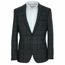 Men's Harry Brown Tailored Fit Wool Blazer in Grey Check (36R).. sample 2668