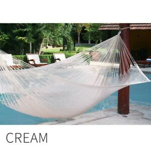 Mexican Hammock Mayan Jumbo Premium Quality Cotton Swinging Outdoor Camping WOW!