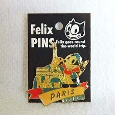Felix The Cat Trip In Paris France Pin 1995 Enamel Badge Button New Souvenir