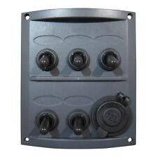 5-gang marítima eléctrica Panel interruptor con 12v Encendedor De Cigarrillos