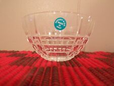 Tiffany & Co. Plaid Crystal Bowl Italy