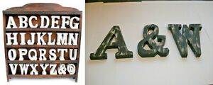 LARGE SHABBY CHIC VINTAGE LETTERS Wall Mountable  A-Z  White or Black Size 15cm