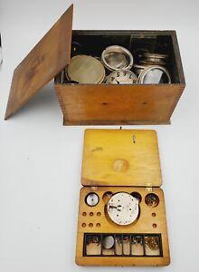 Large Elgin Waltham+ 8-Day Movement & Repair Kit Part/Repair Watchmaker Lot