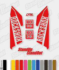 RockShox LYRIK 2015 2016 Style Decals Stickers - Custom / Fluorescent Colours