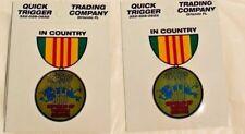 ONE USA Military Republic of Vietnam Service Decal Bumper Sticker 3 inches War