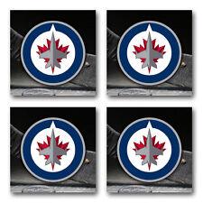 Winnipeg Jets Hockey Rubber Square Coaster set (4 pack) SRC2089