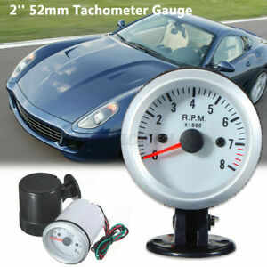 Universal 52mm 0-8000 RPM Tachometer Tacho Gauge Diesel Motor Engine Rev Counter