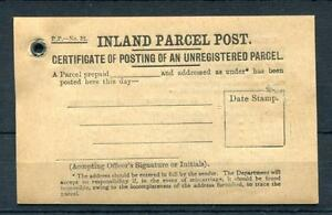 PART PACK OF 7x PARCEL POST CERTIFICATES OF POSTING
