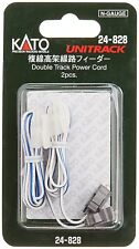 Kato N 24-828 Double Track Power Cord for Unitrack N Scale 2 pc. New!