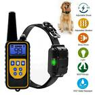 800m Waterproof Dog Training Collar Rechargeable Electric Shock LCD Display/UK