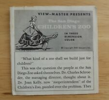 Vintage Viewmaster Booklet The San Diego Childrens Zoo