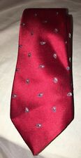 Red Paisley Envoy Men's Necktie Short Elegant Holiday Tie