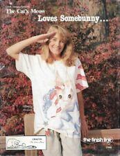 The Cat's Meow Loves SOMEBUNNY Linda Dennis The Finish Line 31040 Vtg 1988