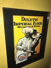 Duluth Flour Baker Bread Kitchen Sambo Framed Advertsing Print Man Cave Sign