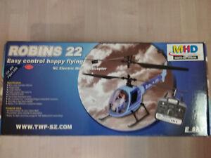 SUPERBE HELICOPTERE E.SKY ROBINS 22 RADIO COMMANDE NEUF DANS SA BOITE