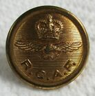 """RAF:""""ROYAL CANADIAN AIR FORCE BRASS BUTTON"""" (24mm, Queen's Crown, 1950s Period)"""