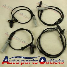 for BMW 328i 540i E39 5 Series 4pc Front Rear Left Right ABS Wheel Speed Sensor