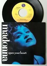 """MADONNA ~ OPEN YOUR HEART ~ ORIGINAL 7"""" with PICTURE SLEEVE, NEAR MINT"""