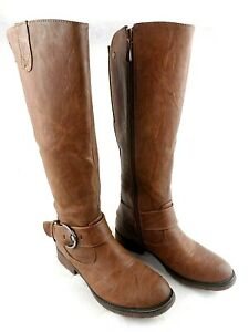 Patrizia by Spring Step Brown Tall Zip Lined Riding Boots Women's Size 7M
