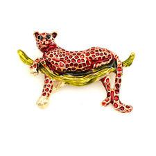 Charm Wild Animal Brooch Pin Gift Betsey Johnson Women's Enamel Cute Leopard