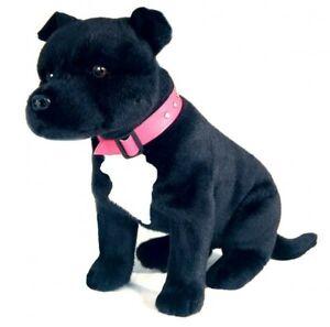 Staffordshire Bull Terrier Staffy Plush Soft Toy Dog 40cm DJ by Bocchetta