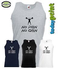 No Pain No Gain Muscle Shirt, Tanktop, Muskel, Bodybuilding, Bodybuilder