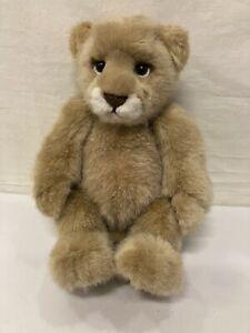 "Charlie Bears Savannah Lion Cub 2015 12"" Retired Bear NO BELL OR TAGS Good Cond"