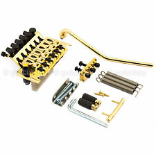 NEW Schaller LockMeister Floyd Rose Tremolo w/ R2 Nut Locking Bridge - GOLD