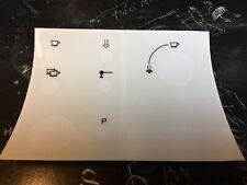 Jura Impressa E80/85 Tastensymbolaufkleber (glänzend) für lackierte Oberflächen