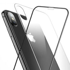 For Apple iPhone X 5D Front+Back Tempered Glass Screen Protector Cover